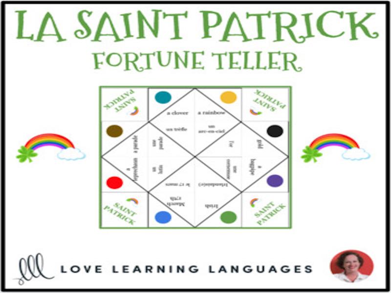 La Saint Patrick - French St. Patrick's Day Vocabulary Fortune Teller