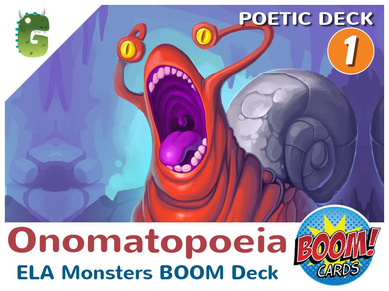 Onomatopoeia Boom Cards (Poetic Language - Deck 1)