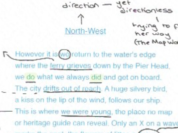 Feminine Gospels, Duffy: North-West, poem analysis