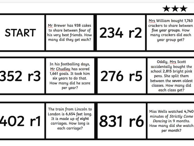 Division Word Problems Pack (Differentiated Loop Cards, PPT and Plenary Task)