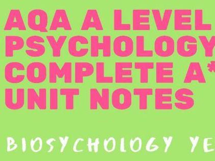 AQA A Level Psychology - Biopsychology AS bundle
