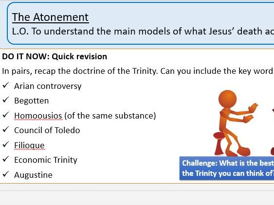 The Atonement A Level 2 lessons