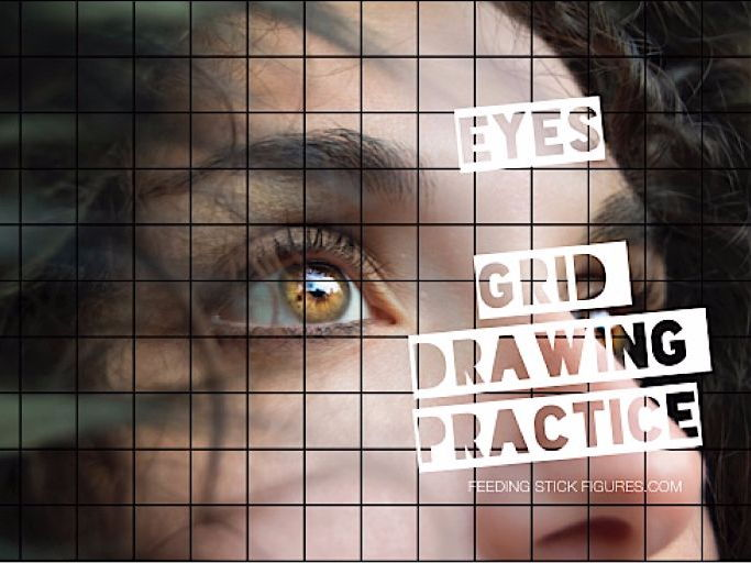 Eye Grid Drawing Practice