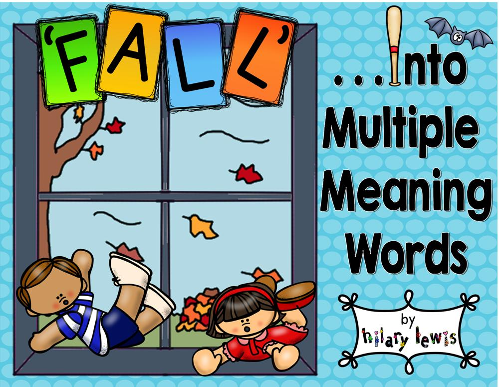 Multiple Meaning Words~Homonyms, with Worksheets to Illustrate