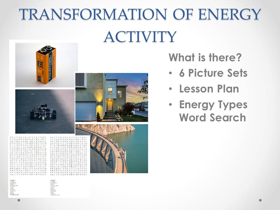 Transformation of Energy Visual Activity