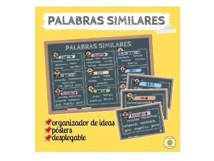 Palabras similares. Spanish GCSE similar words to avoid repetition. Display, mat and pocket foldable