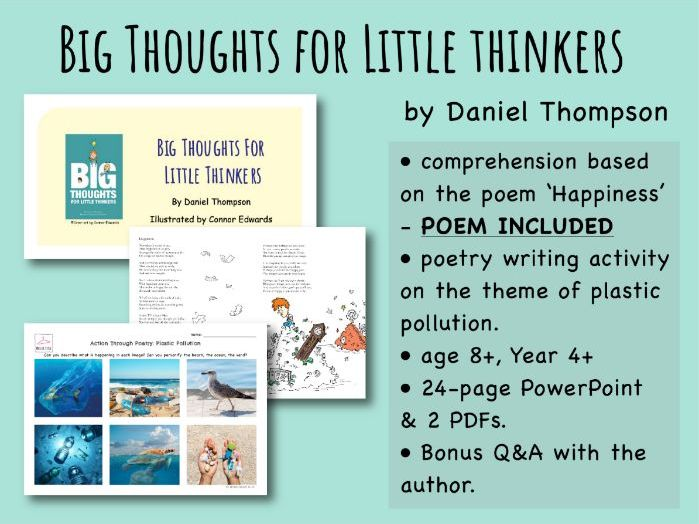 Age 8+ Big Thoughts for Little Thinkers - Whole Class Poetry Comprehension & Writing