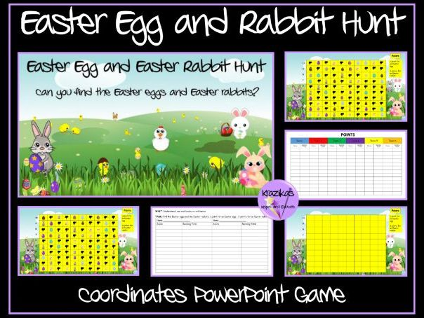 Easter Egg Hunt - Coordinates  PowerPoint Game