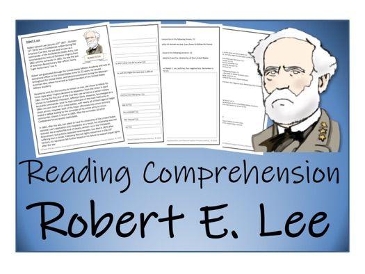 UKS2 History - Robert E. Lee Reading Comprehension Activity (American Civil War)