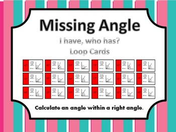 Missing Angle: I have, Who has...?