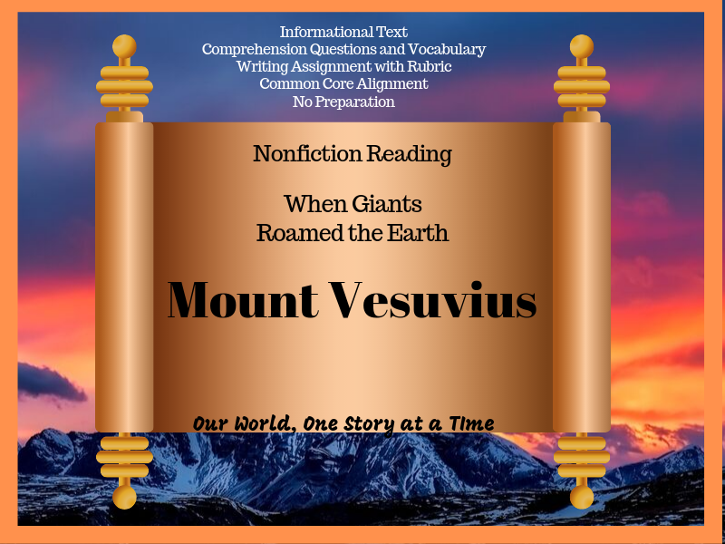 Secondary Nonfiction Reading: Mount Vesuvius