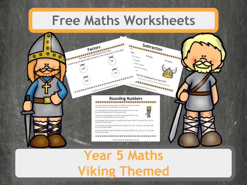 Free Viking Themed Maths Worksheets for Year 5 Classes by ...