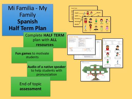 Mi Familia My Family Spanish Half Term Unit