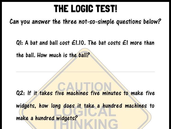 The logic test!