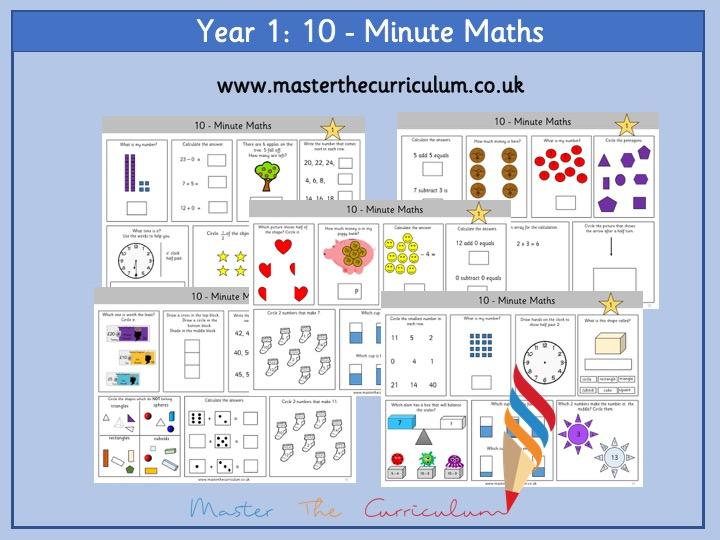 Year 1 – Ten-Minute Maths Workout (30 Sets)