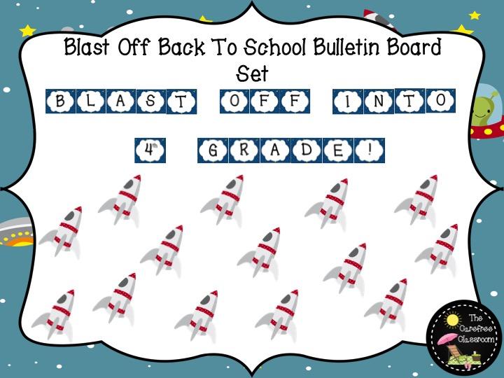 Bulletin Board Set: Blast Off Back To School Set