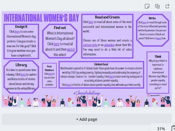 International Women's Day Grid