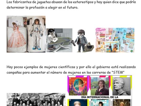 """""""La igualdad de los sexos"""" New AQA A Level -Revision notes"""