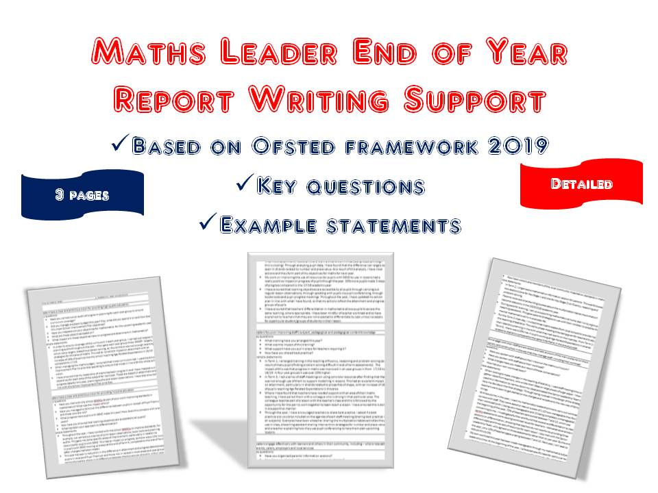 Maths Leader End of Year Report