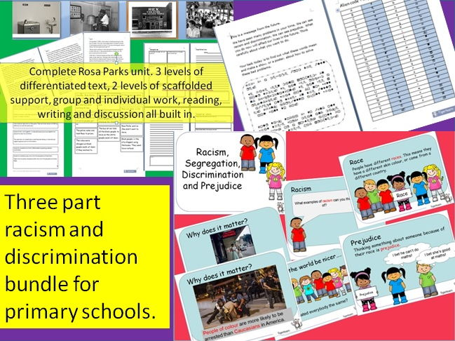 Racism and prejudice, civil rights bundle for primary schools