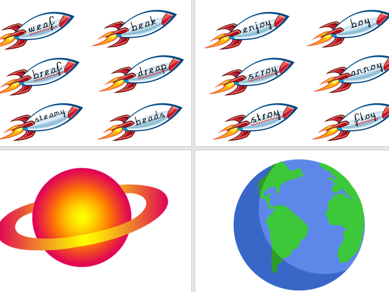 Phonics Phase 5 Earth vs Space Game - Real vs Alien