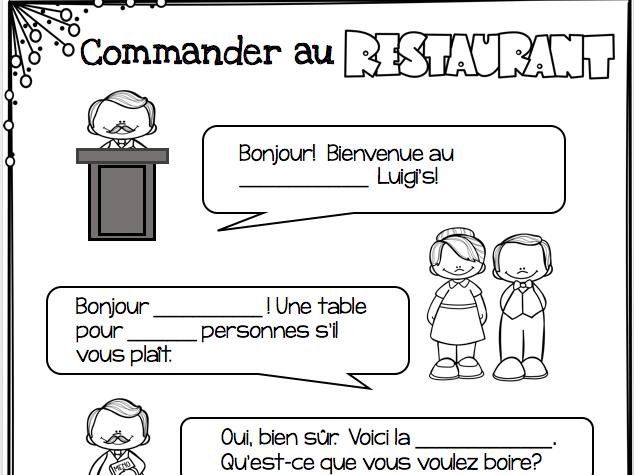 Commander au restaurant