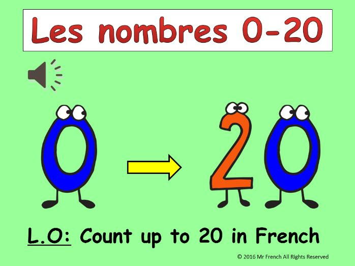 Les nombres 0-20 + L'age (French numbers 0-20 + the age) 6 lessons! Y3   2nd Grade