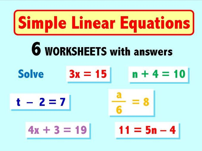 Simple Linear Equations