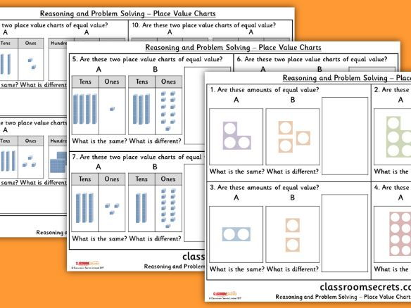 Year 2 Place Value Charts  WRMH Place Value Reasoning and Problem Solving Pack
