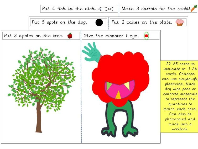 Make and Count to Match 1-10