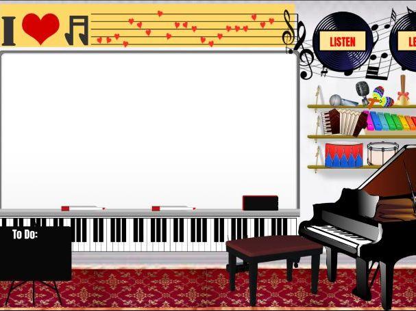 Music Virtual Classroom Background