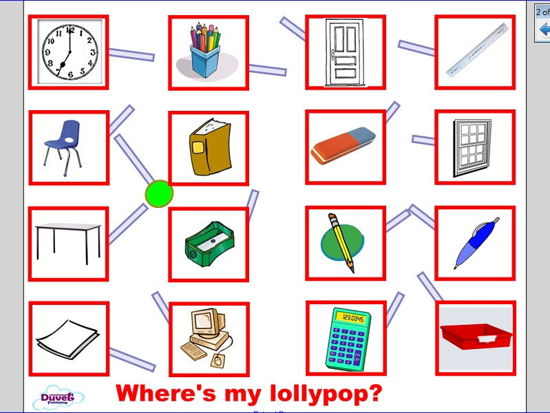 'Where's My Lolly-Pop?'  EAL/Vocabulary game for Smartboard