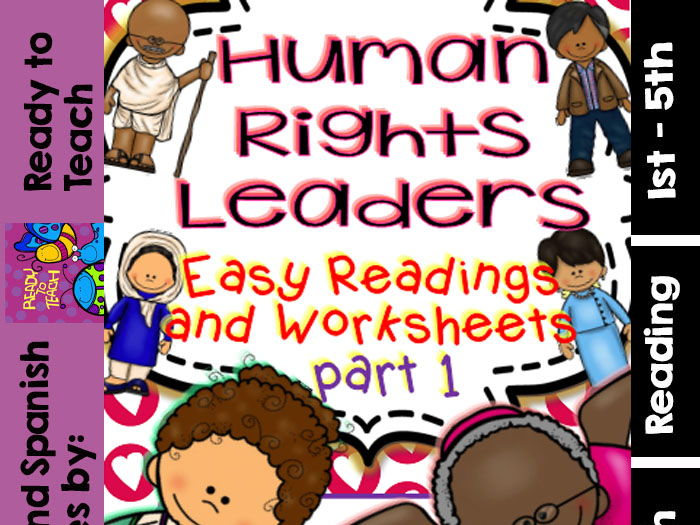 Human Rights Leaders /Readings and Printables with a Mini Flip Flap Book) PART 1