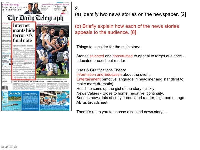WJEC GCSE Media Section A Mock Exam Prep