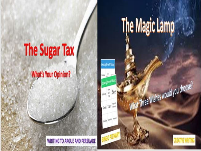 The Sugar Tax + The Magic Lamp and a Literacy Game