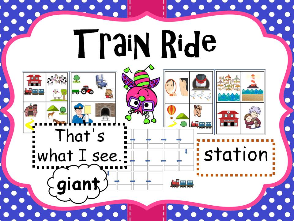 Train Ride Story Map Key Words Worksheets