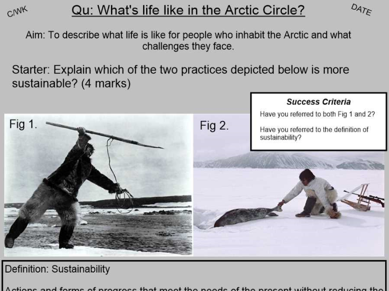 Cold Environments - What's life like in the Arctic Circle?