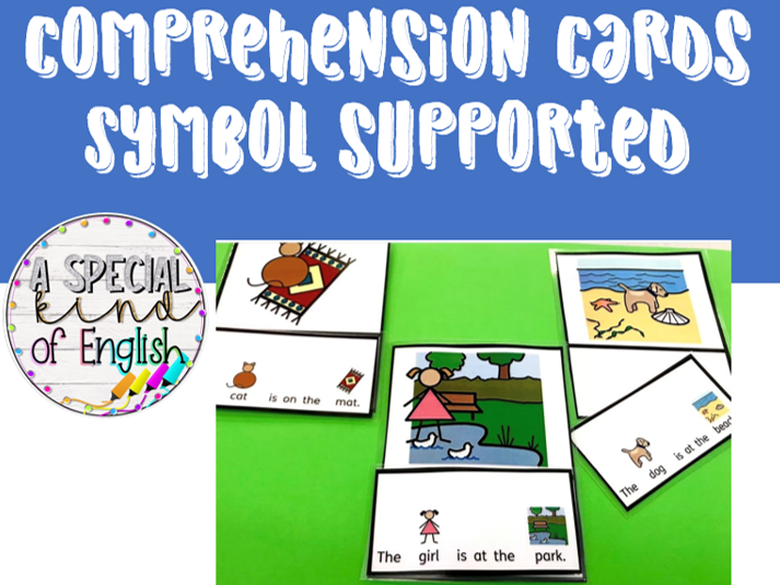 Comprehension cards - Symbol Supported