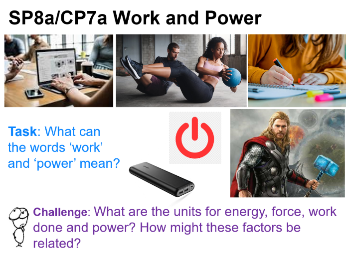 Work and Power SP8a CP7a Edexcel 9-1 GCSE Physics Energy-Forces