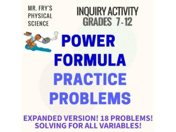 Power Formula Problems