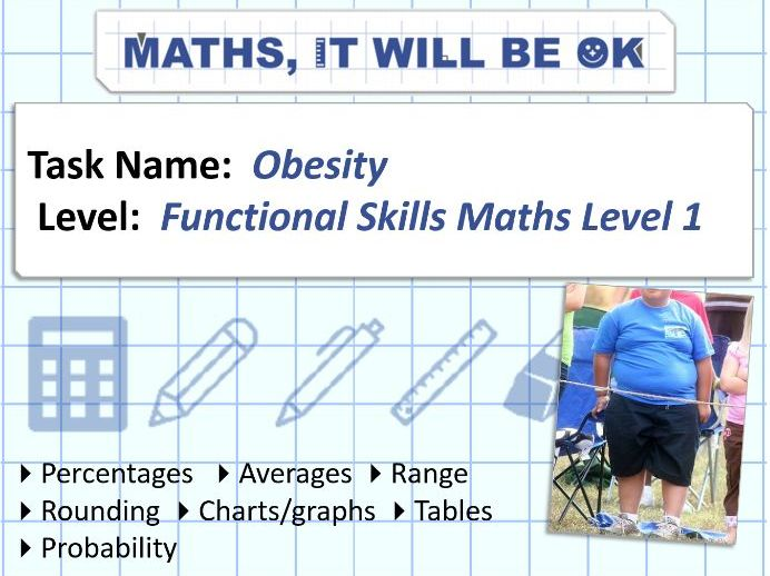 FS Maths Level 1 - Statistics -Obesity - Exam Style
