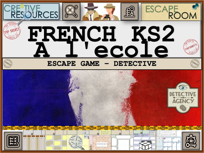 French KS2 L'Ecole Escape Room