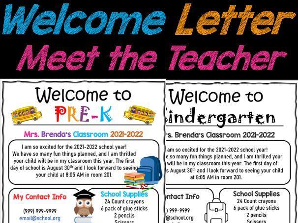 Welcome Letter, Meet the Teacher letter EDITABLE PPT | Back to School