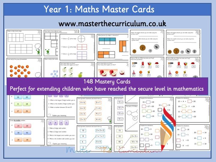 Year 1 Maths Master Cards