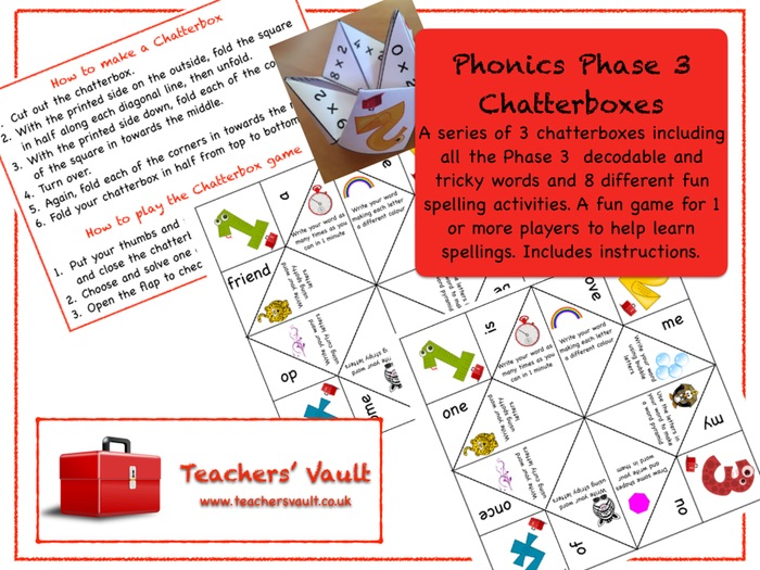 Phonics Phase 3 Chatterboxes