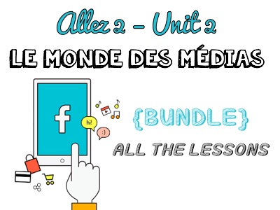 Allez 2 { BUNDLE } ALL the resources for Unit 2 - MEDIAS - TV - CINEMA - BOOKS - MUSIC - KS3 French
