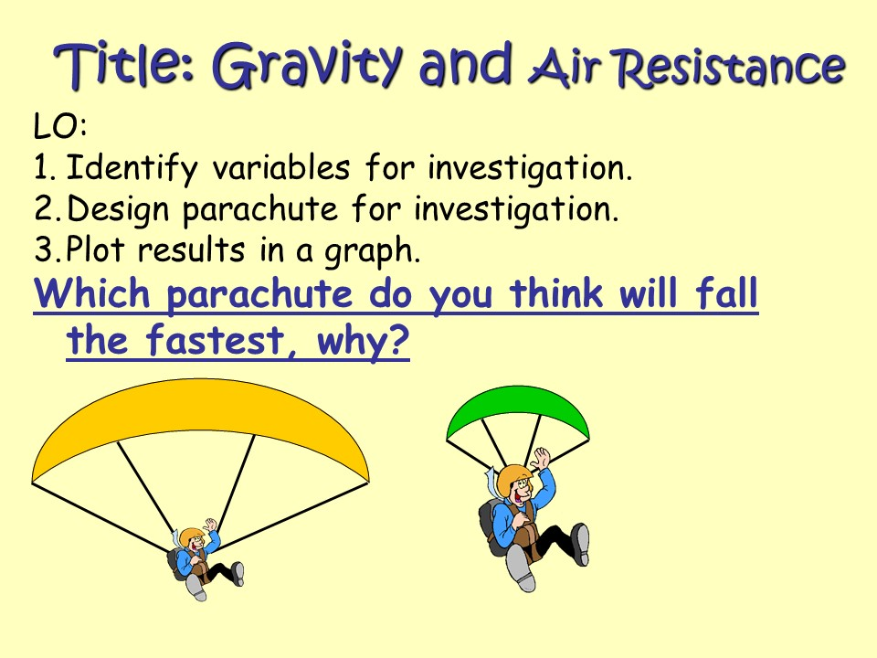 Teaching gravity ks2