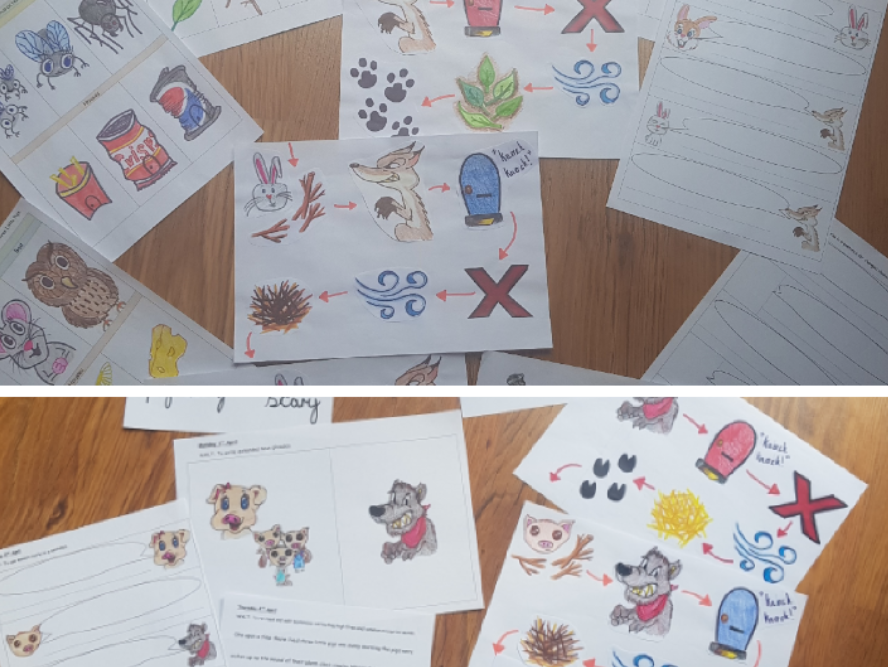Three Little Pigs story maps
