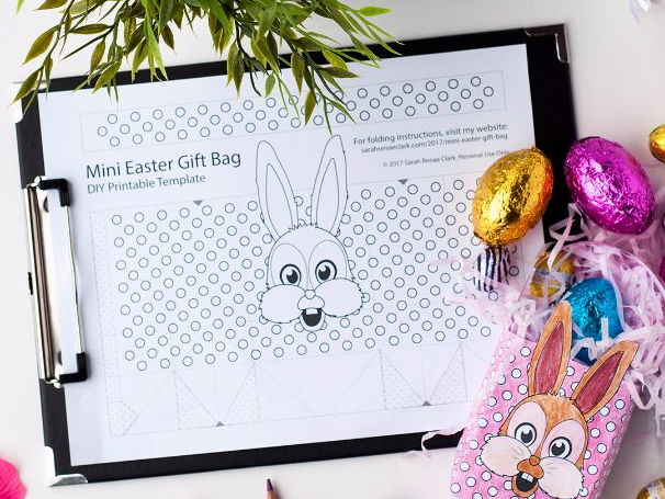 Free DIY Easter Gift Bag Template