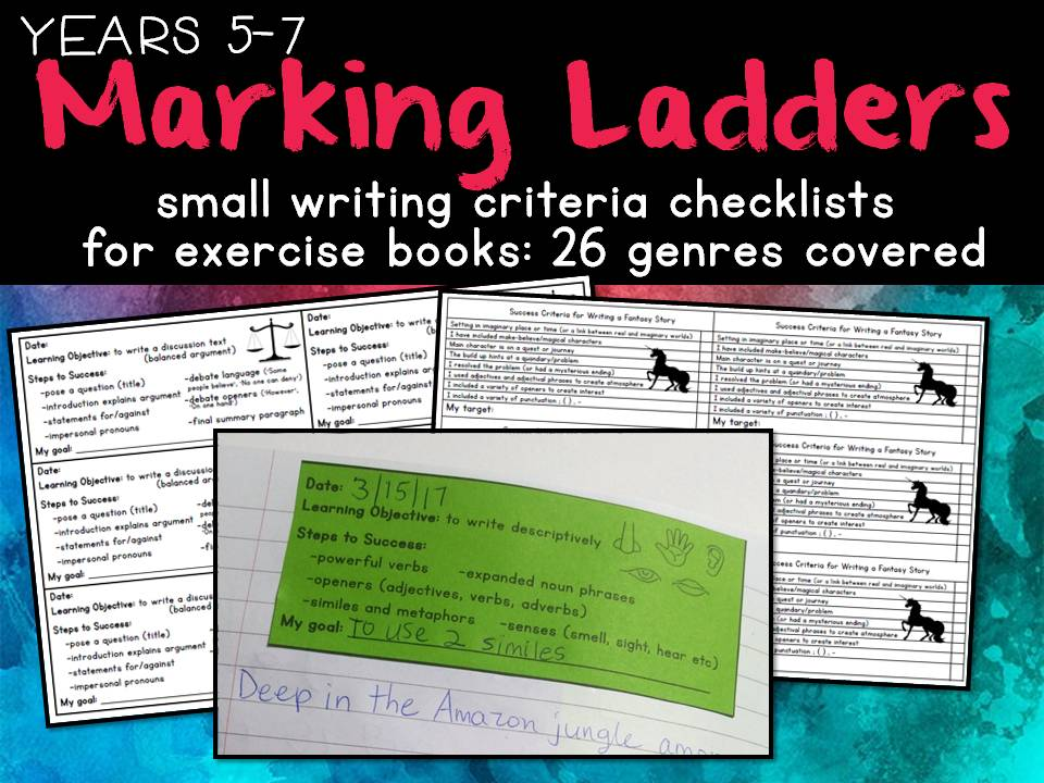Marking Ladders for Writing